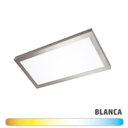 Luminaria Níquel Superficie LED 30x60 24W