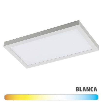 Luminaria Blanca Superficie LED 30x90 36W