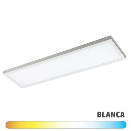 Luminaria Blanca Superficie LED 30x120 48W