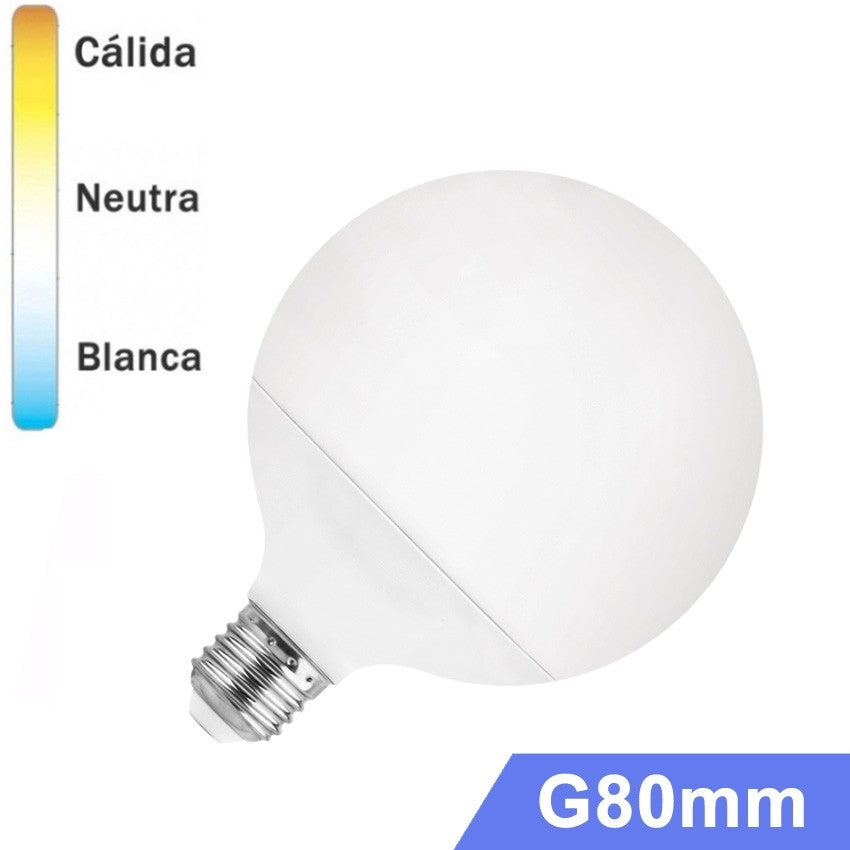 Bombilla LED Globo E27 12W G80mm