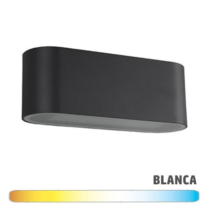 Aplique LED 2x7W Luz Indirecta Negro IP65