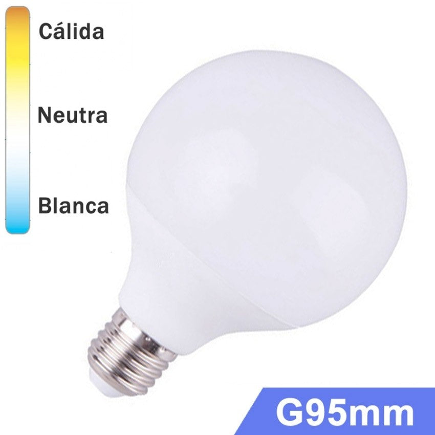 Bombilla LED Globo E27 15W G95mm