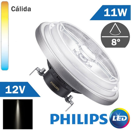 BOMBILLA LED 12V PHILIPS AR111 11W 8º