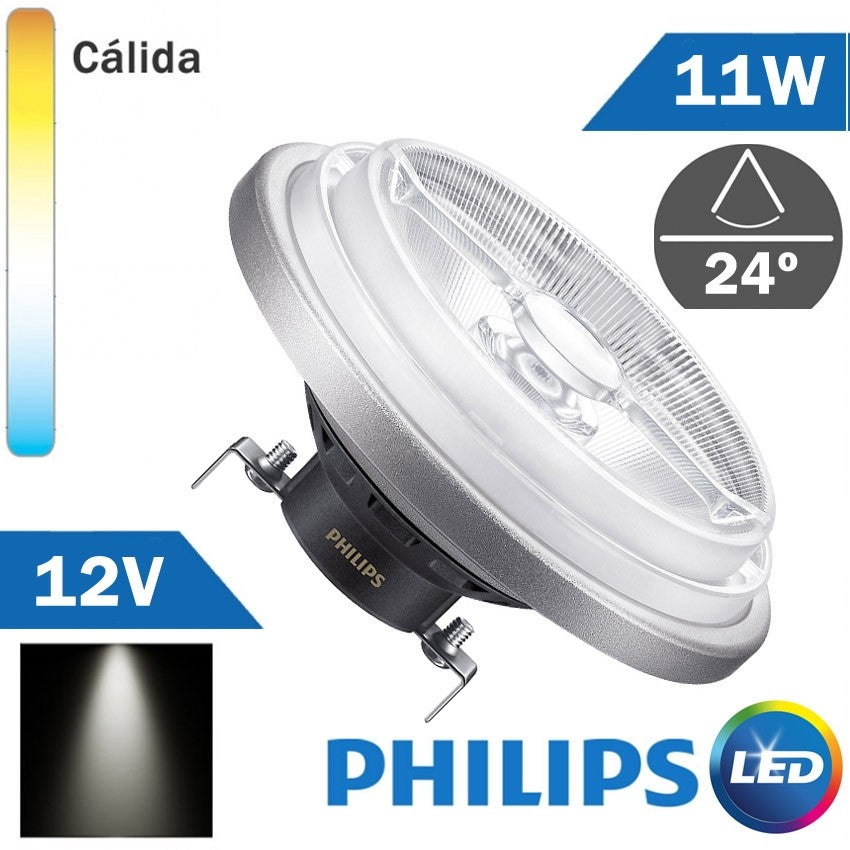 BOMBILLA LED 12V PHILIPS AR111 11W 24º
