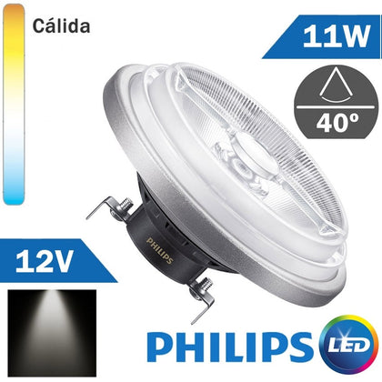 BOMBILLA LED 12V PHILIPS AR111 11W 40º
