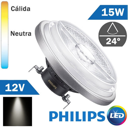 BOMBILLA LED 12V PHILIPS AR111 15W 24º