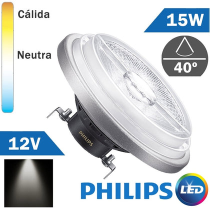 BOMBILLA LED 12V PHILIPS AR111 15W 40º