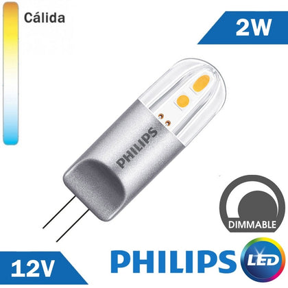 BOMBILLA LED G4 PHILIPS 2W 12V REGULABLE