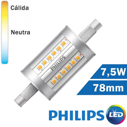 BOMBILLA LED R7s 78mm 7,5W PHILIPS LINEAL
