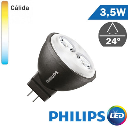 Bombilla LED 12V Philips MR11 3,5W 35mm