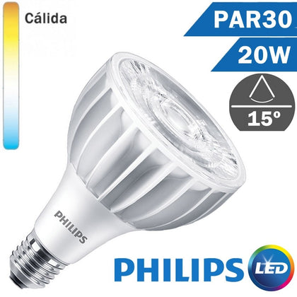 BOMBILLA LED E27 PHILIPS PAR30 L 20W 15º