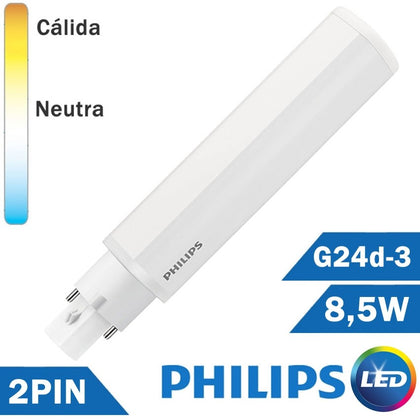 BOMBILLA LED PHILIPS PL-C 8,5W 2 PIN G24d-3