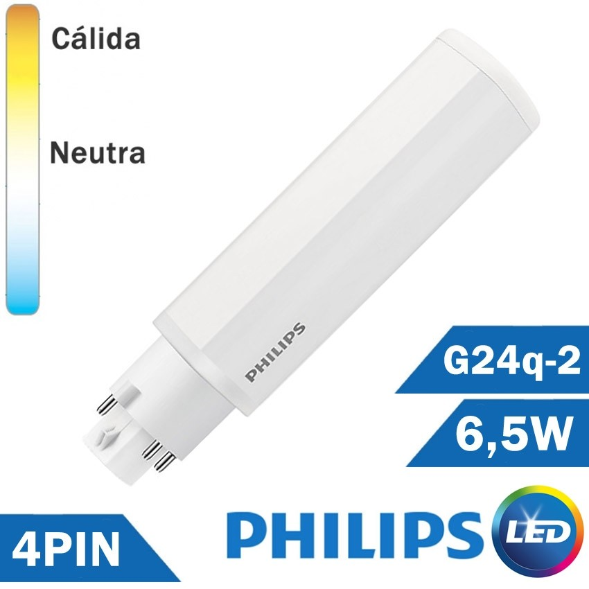 BOMBILLA LED PHILIPS PL-C 6,5W 4 PIN G24q-2