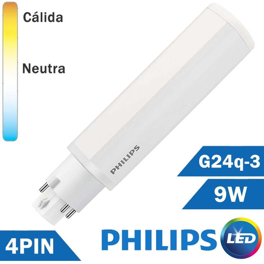 BOMBILLA LED PHILIPS PL-C 9W 4 PIN G24q-3