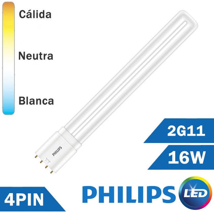 LÁMPARA LED PHILIPS PL-L 16W 2G11 4 PIN