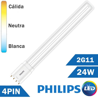 LÁMPARA LED PHILIPS PL-L 24W 2G11 4 PIN
