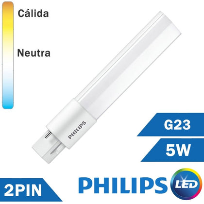 LÁMPARA LED PHILIPS PL-S 5W G23 2 PIN