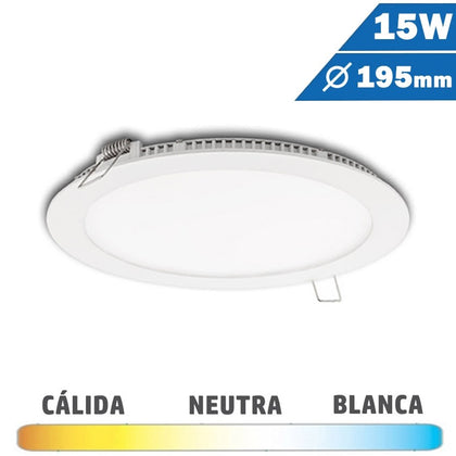Panel LED Redondo Blanco 15W Diámetro 190mm