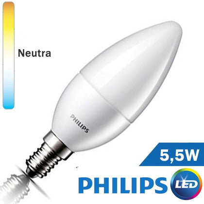 Bombilla LED E14 Philips Vela 5,5W
