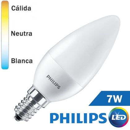 Bombilla LED E14 Philips Vela 7W