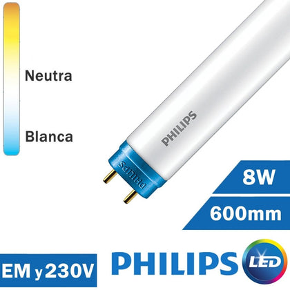 Tubo LED Philips 8W 600mm T8 COREPRO