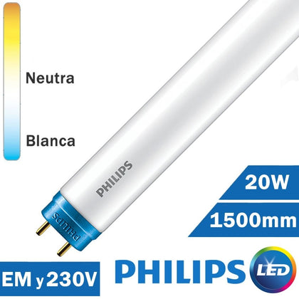 TUBO LED PHILIPS 20W 1500mm T8 COREPRO