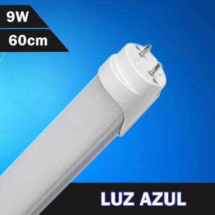 Tubo LED T8 Color Azul 600mm 9W 230V
