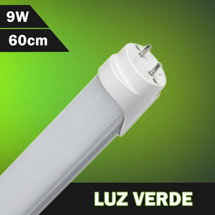 Tubo LED T8 Color Verde 600mm 9W 230V