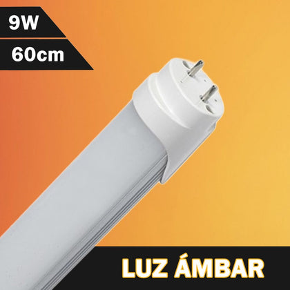 Tubo LED T8 Color Ámbar / Amarillo 600mm 9W 230V