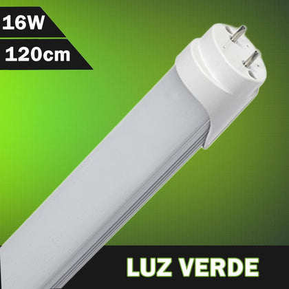 Tubo LED T8 Color Verde 1200mm 16W 230V