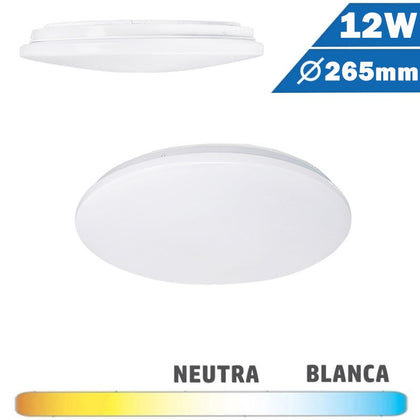 Plafón Superficie LED Circular 12W 265mm