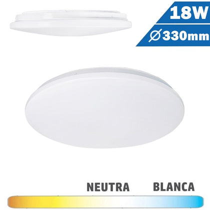 Plafón Superficie LED Circular 18W 330mm