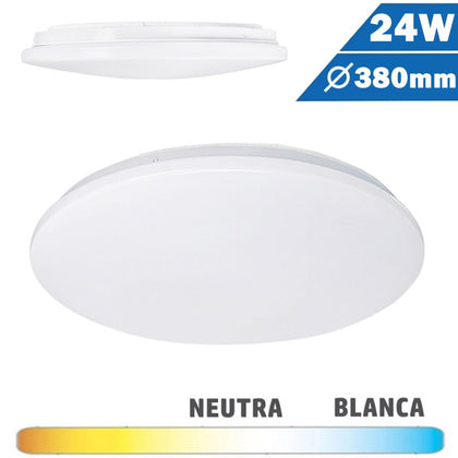 Plafón Superficie LED Circular 24W 380mm