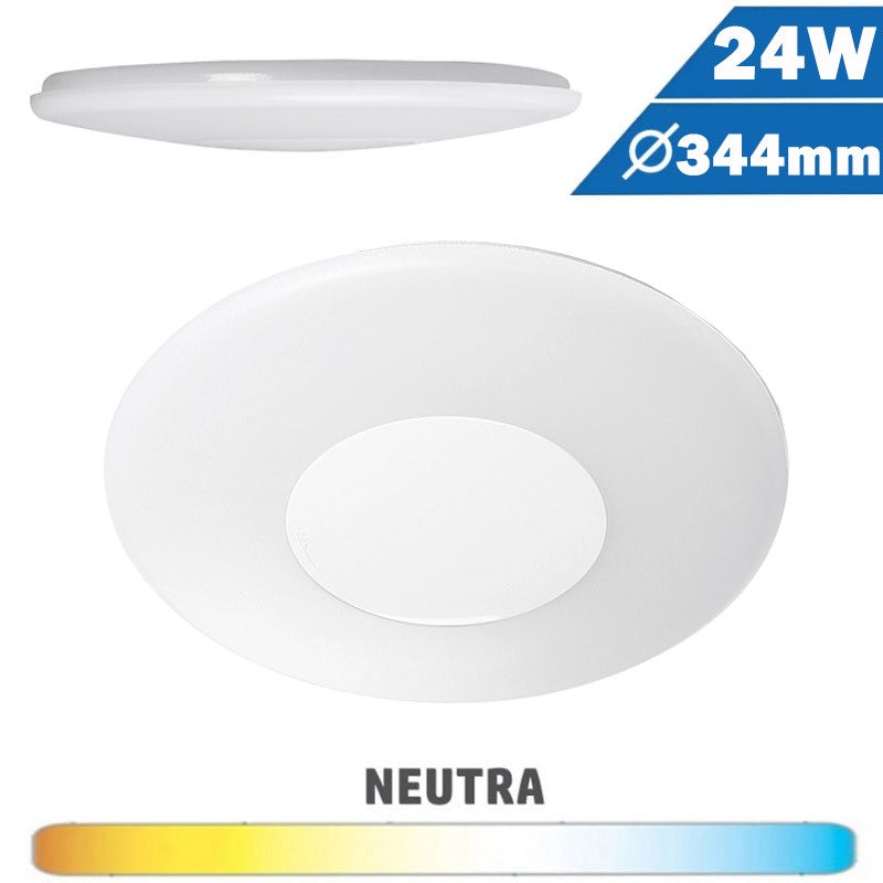 Plafón Superficie LED Circular 20W 344mm Aro