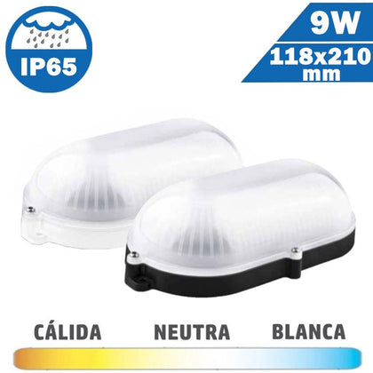 Plafón Superficie LED 9W Oval Exterior IP65