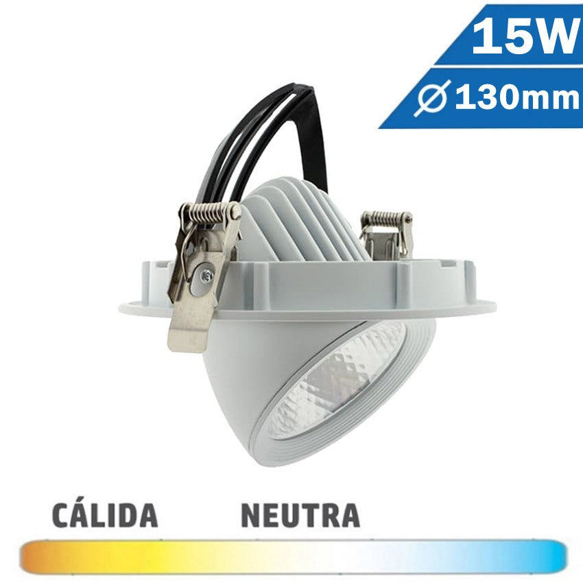 Empotrable Basculante Redondo LED Blanco 15W Abatible