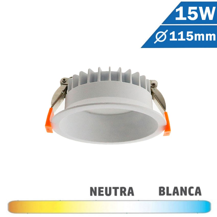 Downlight LED Blanco 15W 115mm Luz Indirecto