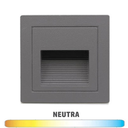 Empotrable Baliza Pared 3W IP54 Gris