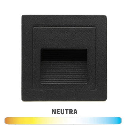 Empotrable Baliza Pared 3W IP54 Negro