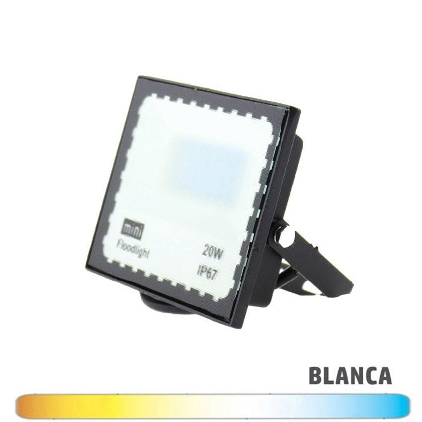 Proyector Mini LED SMD 20W Negro Luz Blanca