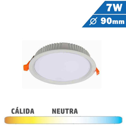 Downlight LED Mini 7W Blanco Redondo 90mm