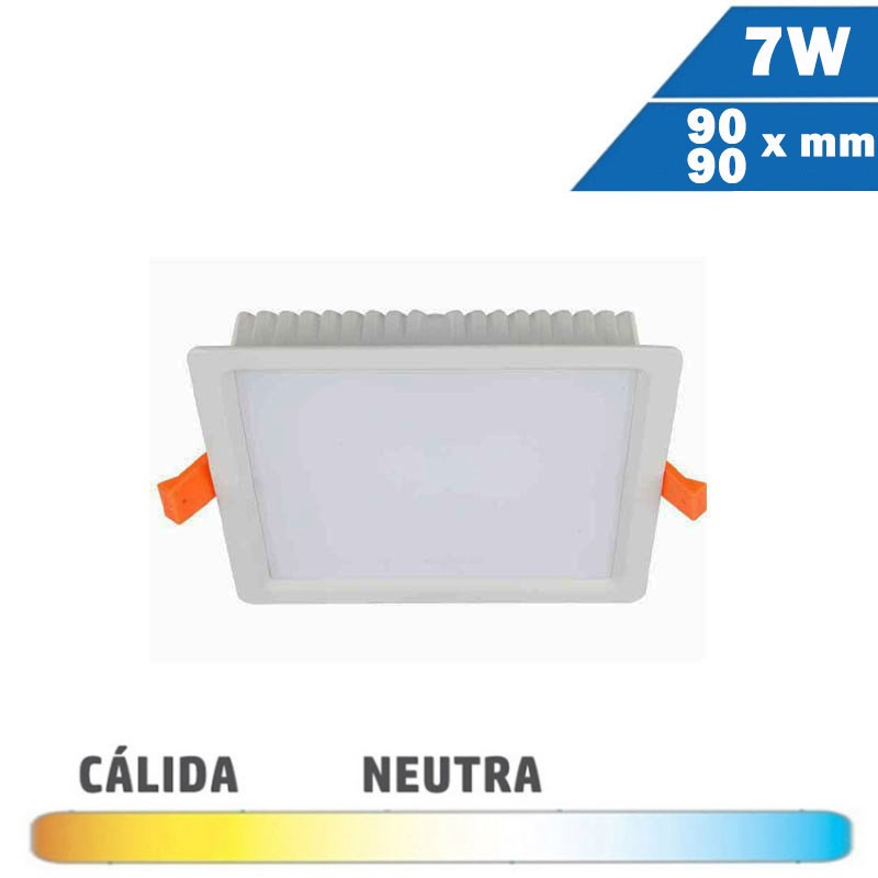 Downlight LED Mini 7W Blanco Cuadrado 90x90mm