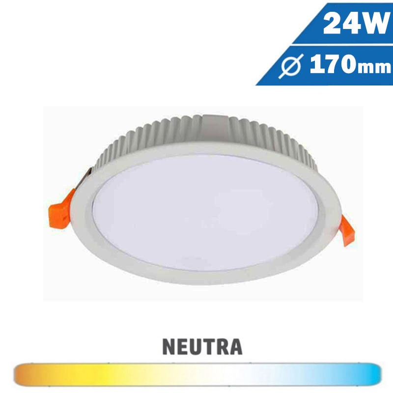 Downlight LED Mini 24W Blanco Redondo 170mm