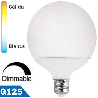 Bombilla LED Globo E27 15W G125mm Regulable