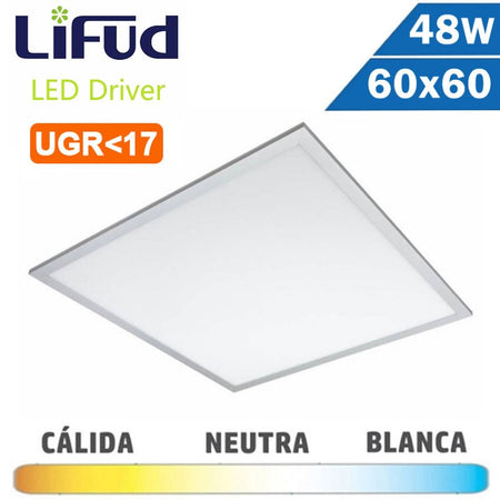 Panel LED 600x600 mm 48 - 50W Placas Técnicas