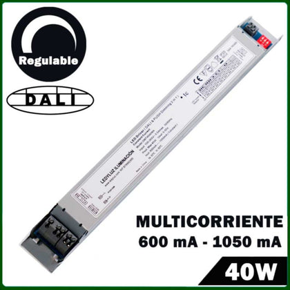Fuente de Alimentación LED Regulabe DALI & PUSH LED 40W Multicorriente