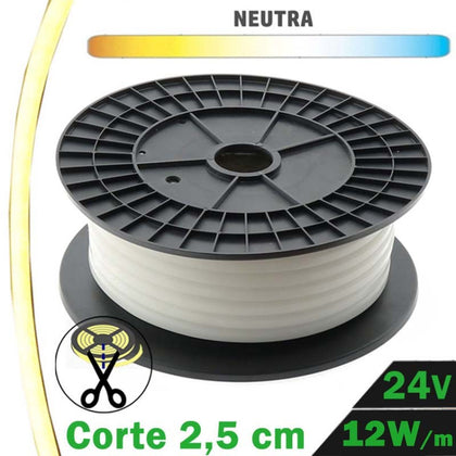 Rollo 20 Metros Neón LED 12W/m 24V Neutra