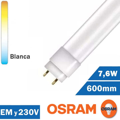 Tubo LED Osram 7,6W Star 600mm T8 EM