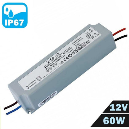 Fuente Alimentación LED IP67 Estanca 12V 60W