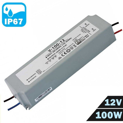 Fuente Alimentación LED IP67 Estanca 12V 100W